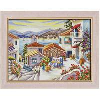 Beach House Painting Counted Cross Stitch 11CT 14CT Cross Stitch Set Wholesale Scenery Cross Stitch Kit
