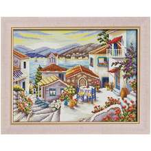 Beach house painting Counted Cross Stitch 11CT 14CT Cross Stitch Set Wholesale scenery Cross-stitch Kit Embroidery Needlework(China)