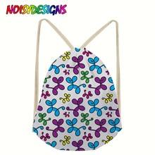 NOISYDESIGNS Hot Sale Drawstring Bag Backpacks Fashion Balloon Dogs Backpack Rucksack Drawstring Bags Girls Mochila Feminina