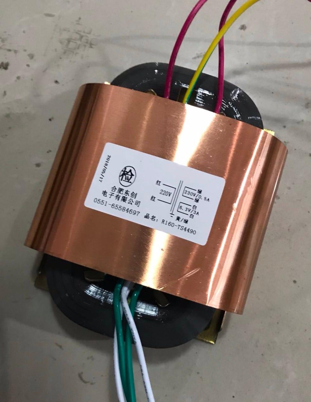 230V 0.5A 6.3V 3A R Core Transformer 135VA R160 custom transformer 220V copper shield Power amplifier цены онлайн