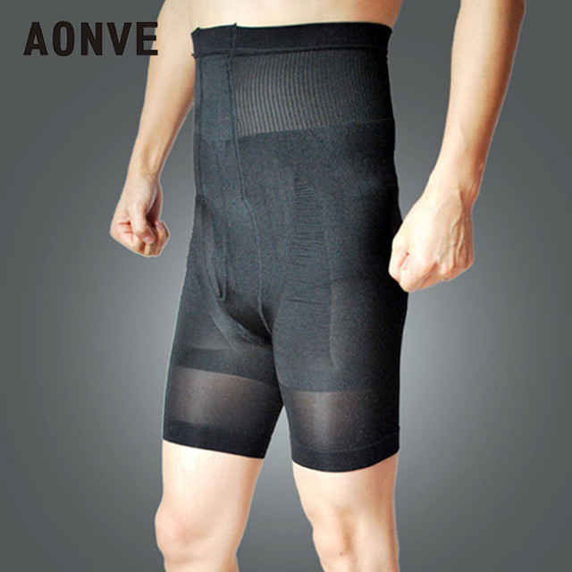 Aonve Men High Waist Strap Panties Tummy Firm Shaping Stretchy Shorts Hombre Waist Trainer Shapewear Belly Trimmer Underwear