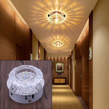 1PC Romantic Crystal LED 3W/5W Ceiling Light Fixture Indoor Drawing Room Lamp Lighting AC 85-230V