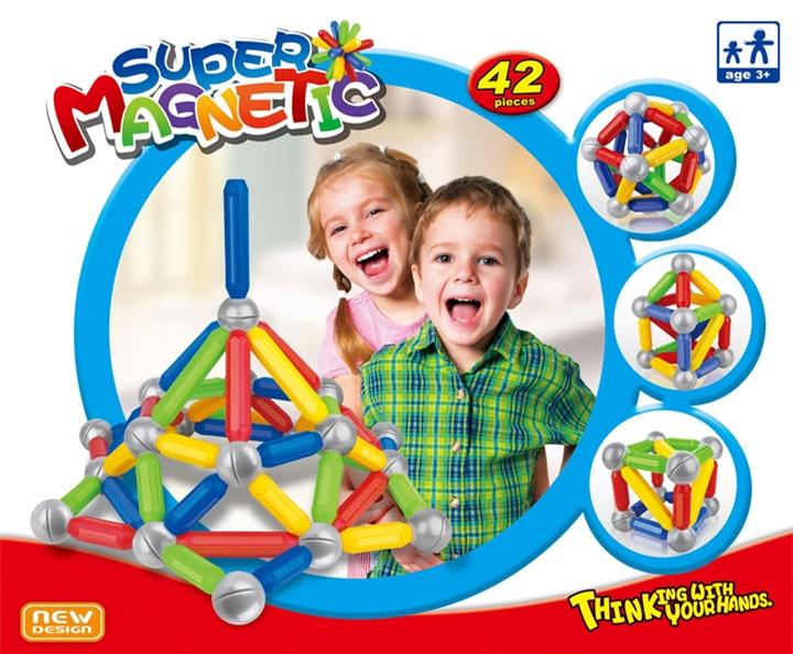 Child Educational toys 3D Super Magnetic Building Blocks ...