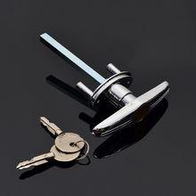 Garage Door Opener T Lock Handle with 2/3/4 keys Secure For Caravans & Trailers