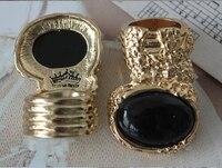 бесплатная доставка, синий камень хороший классический золотой цвет ретро кольцо старинные ювелирные изделия