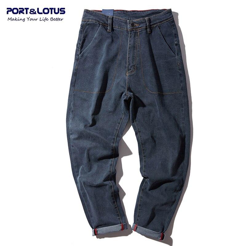PORT&LOTUS Jeans Men Casual Brand Clothing Cotton Fashion Cross-pants Men Jeans Long Pants Men's Jeans YP024 5165 2017 high quaitily casual fashion 024