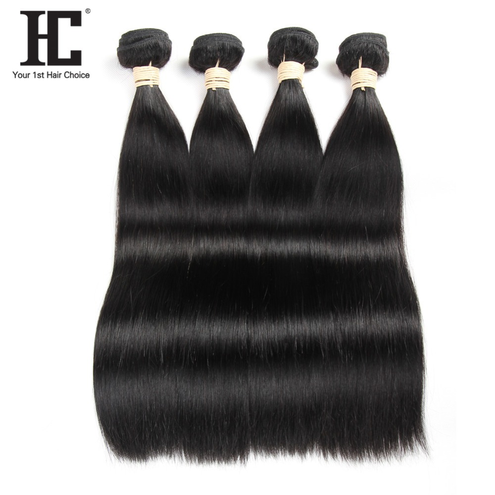Peruvian Straight Hair Weave 4 Bundles Double Weft Non Remy Hair Extensions Natural Color 100 Human