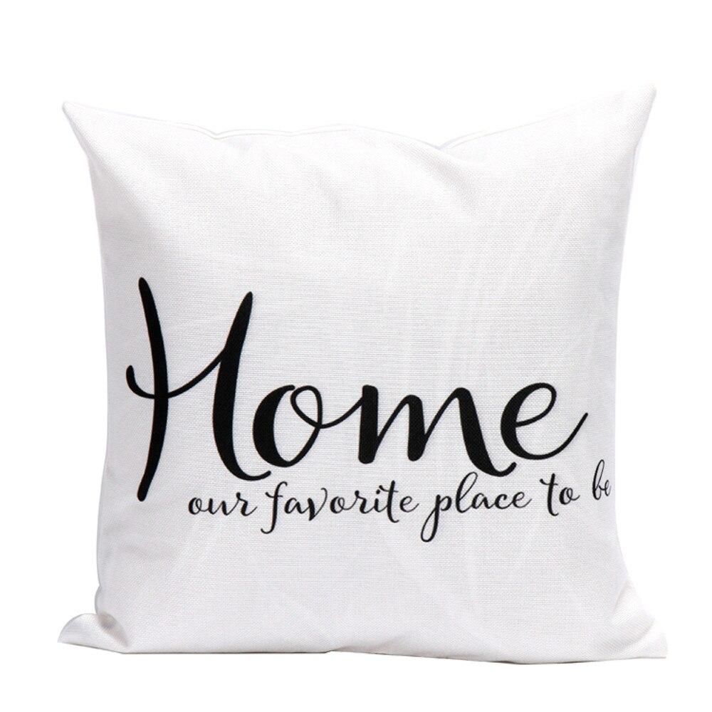 2019 NEW Letters Pillow Case Sofa Waist Throw Cushion Cover Home Decor cushion cover 45x45cm Linen cotton