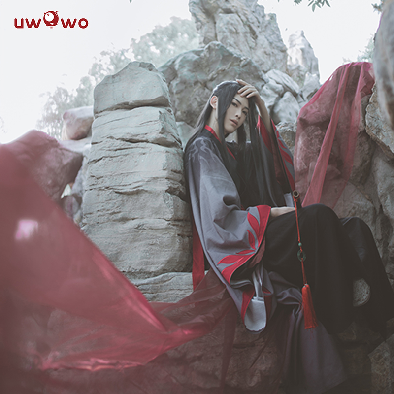 Image 4 - UWOWO Wei Wuxian The Yiling Patriarch Cosplay Grandmaster of Demonic Cultivation Costume Wei Wuxian Mo Dao Zu Shi Costume Men-in Anime Costumes from Novelty & Special Use