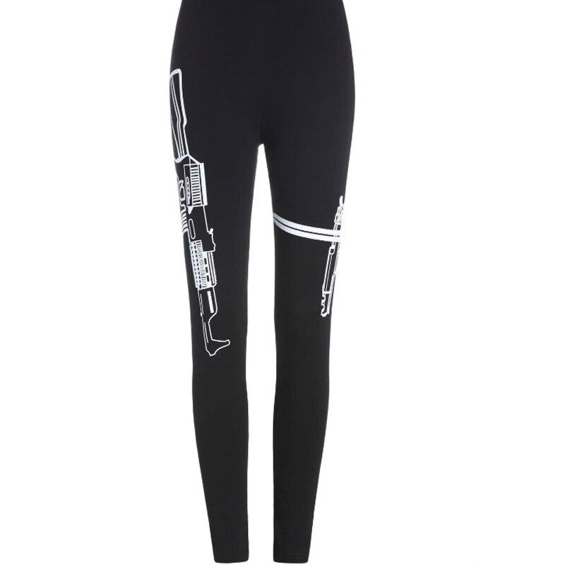 QiWen font b Womens b font Workout Leggings For Joggers Fitness Legging High Waist Elastic Print