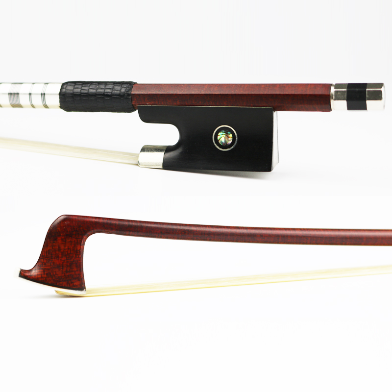 Free Shipping 4/4 Size Hard Carbon Fiber Violin Bow Pernambuco Skin Exquisite Horsehair Ebony Frog Violin Parts Accessories 127v 4 4 size violin bow carbon fiber core with pernambuco skin stick snakewood frog natural horsehair violin parts accessories