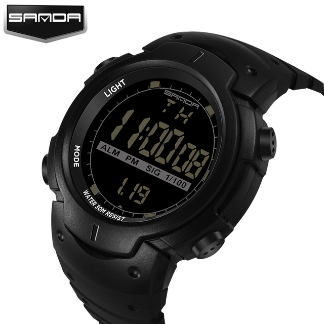 2017 Sanda Brand Luxury Multifunction LED Digital Wrist Watches For Men Ladies Clock Womens Male Wrist Watch Sport Wristwatch