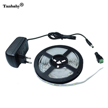 Tanbaby 5630 SMD LED Strip 300leds/5M Cool/Warm White Red Green 5730 LED strip Light Flexible Ribbon Tape +12V 2A Power Adapter