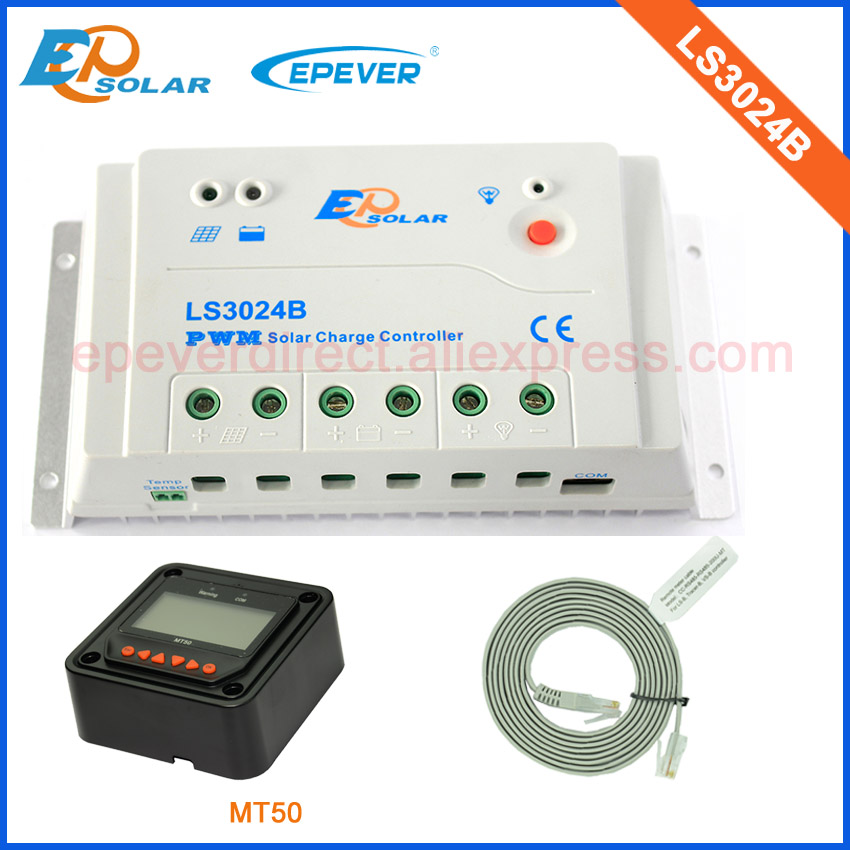 Solar pwm 30A regulator power bank battery charger 12V 24V MT50 remote Meter LS3024B 30A 30amps EPEVER EPsolar low price все цены
