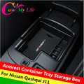 Car Storage Box For 2015 2016 Nissan Qashqai J11 Central Armrest Holder Container Tray Storage Box Accessories Car Styling