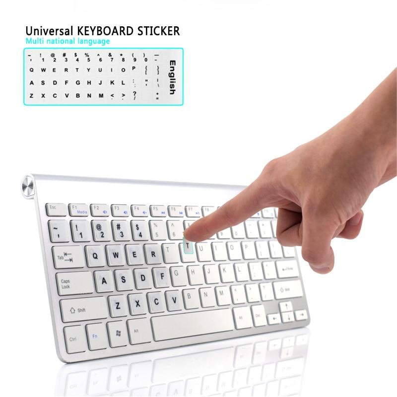 Image 3 - Waterproof Laptop Keyboard Stickers Spanish/English/Russian/French Deutsch/Arabic/Korean/Japanese/Hebrew/Thai Keyboard Layout-in Keyboard Covers from Computer & Office