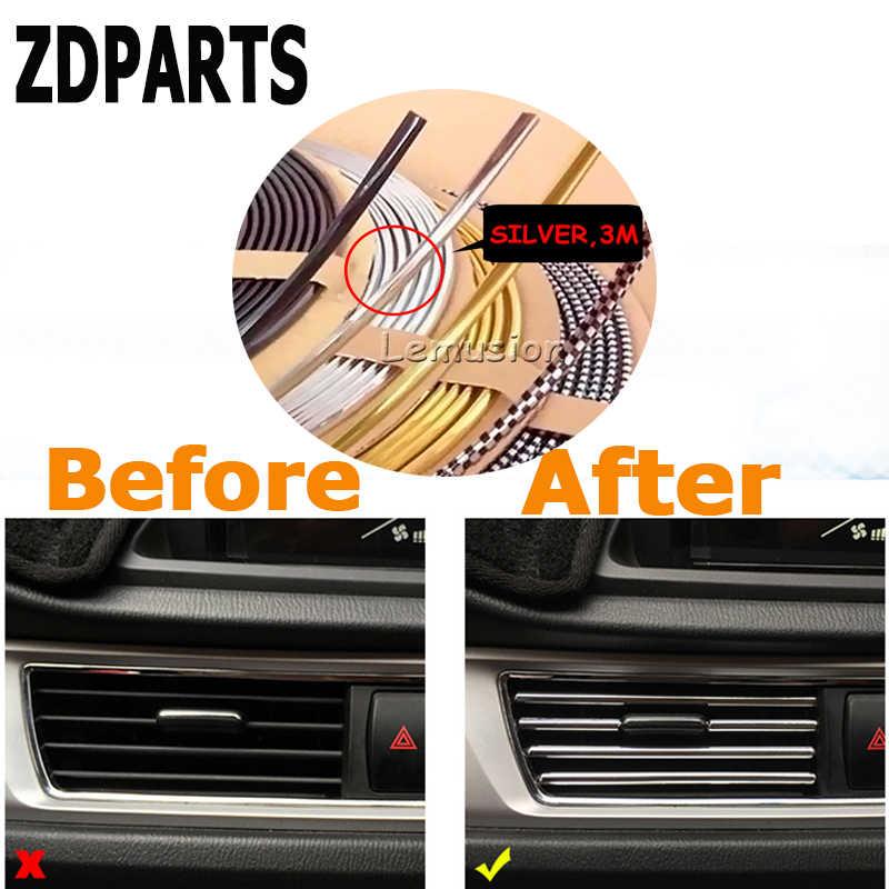 ZDPARTS 3 M Voor Honda Civic Accord Fit CRV HRV Mitsubishi Asx Infiniti q50 Acura Auto Interieur Mouldings Decoratie Chrome Strip