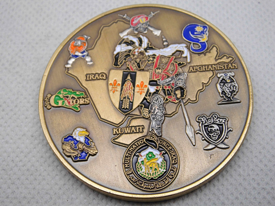 Military Challenge Coin Hot Sales Desert Warriors Challenge Coin Low Price Coin Fh810198 Relieving Rheumatism And Cold Disciplined Cheap Custom Coins High Quality U.s Home & Garden Ornaments