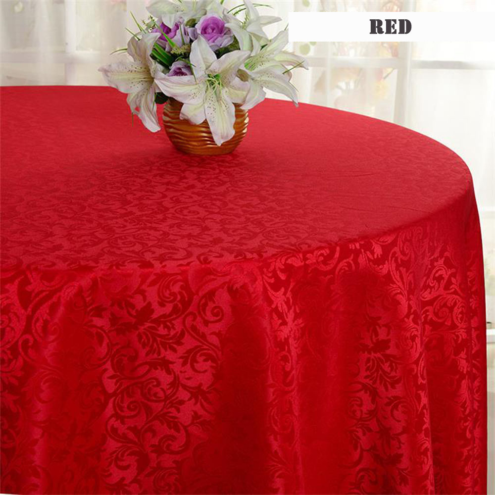 Europe Style Hotel Round Dining Table Cloth Wedding Party Decoration Polyester White Tablecloth Home Decor Table Cover 5pcs/lot