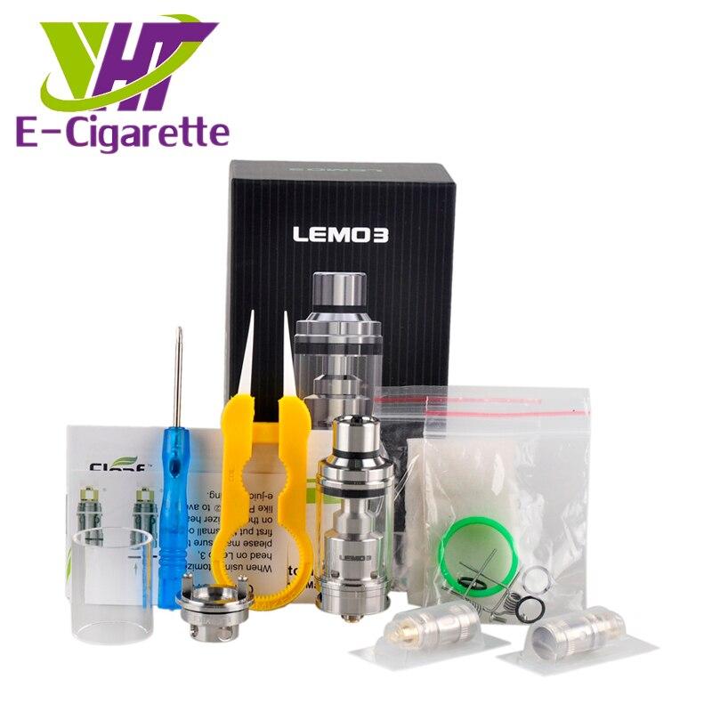 ФОТО Original Eleaf Lemo 3 Atomizer 4ML Top E-liquid Filling Tank With RTA Base For Smooth Airflow Clearomizer E- Cigarette Vape