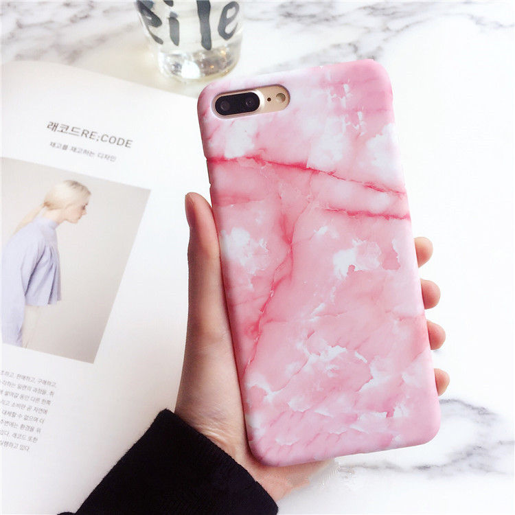 Galleria fotografica Granite Marble Texture Pattern Phone Cases For iphone 6 Case For iphone 8 7 6S Plus Cover For IPhone X Coque