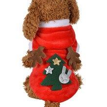 81191d68bb69b 2018 mignon animal de compagnie chien Teddy à capuchon bois chaud en  peluche manteau rouge wapiti robe de noël vêtements de fête.