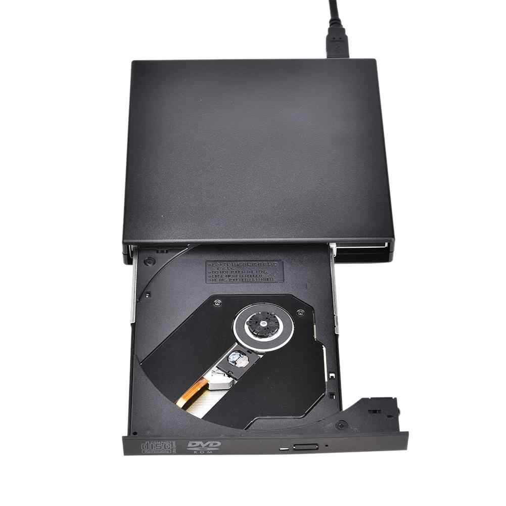 Esterno ROM Drive Ottico USB 2.0 CD/DVD-ROM CD-RW Lettore Burner Slim Lettore Portatile di trasporto libero Registratore Portatil Auto Lettore
