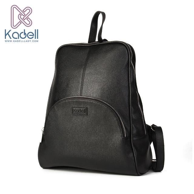 e5d7b9befa Aliexpress.com   Buy Kadell High Quality Leather Backpack Women .