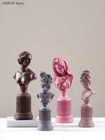 Nordic creative plaster goddess sculpture resin decoration home accessories living room craft gift office statue decoration