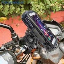 دراجة نارية حامل هاتف دعم الهاتف المحمول حامل ل موتو دعم لهواوي Redmi 5x العالمي دراجة حامل حقيبة مقاوم للماء