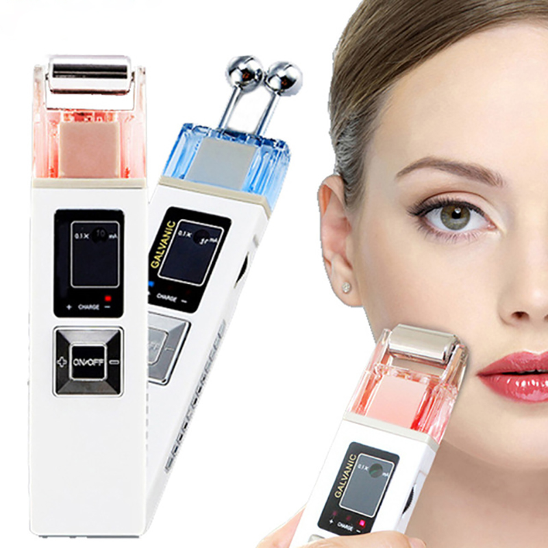 Купить с кэшбэком Portable Galvanic Microcurrent Skin Firming Machine Anti-aging Face Lift Massager Anti -wrinkle Lifting Device for Face
