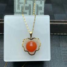 Shilovem 18k желтое золото настоящий натуральный южный Красный