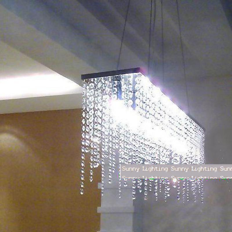 Modern crystal chandelier dining room modern led crystal chandelier modern 100 k9 crystal lighting pendant lamp for dining room restaurant hanging cafe bar kitchen workwithnaturefo