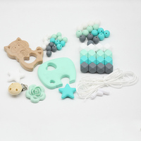 Diy Craft Kids Combination Wood Baby Silicone Elephant Wooden Raccoon Pacifier Clips Toy Newborn Supplies Hot