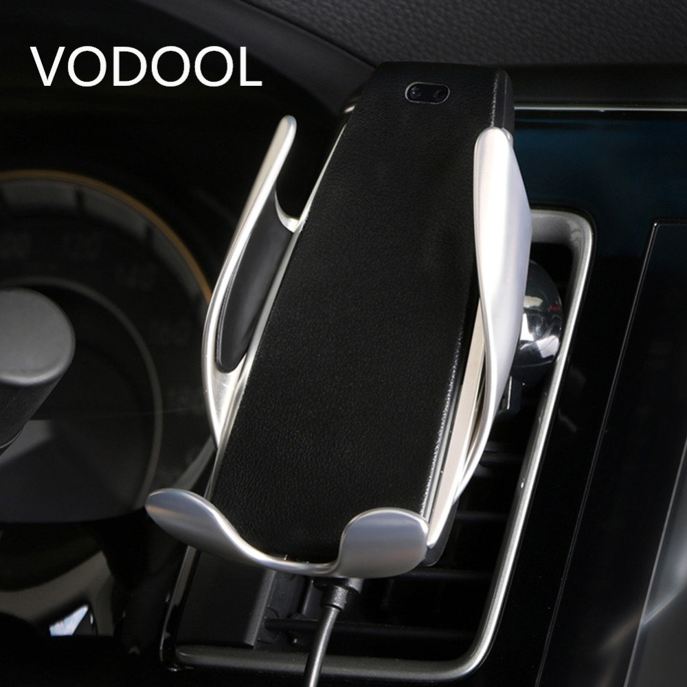 VODOOL Car Mount Qi Wireless Charger For iPhone XS Max X XR 8 Fast Wireless Charging Car Phone Holder For Samsung Note 9 S9 S8