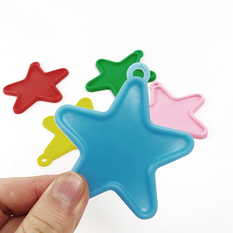 Star Shape Plastic Balloon Weights Birthday Wedding Party Christening 10 colours