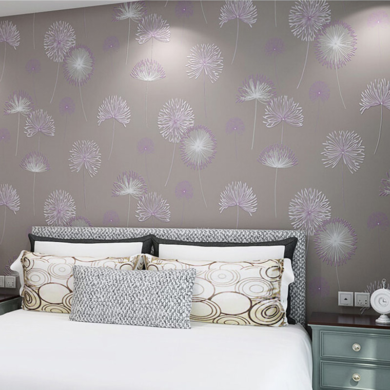 Photo Wallpaper 3D Non-Woven Flocking Wall Papers Living Room Bedroom Pastoral Romantic Home Decor Wall Covering Papel De Parede tapety 3d modern wall papers home decor non woven wallpaper for walls 3 d living room bedroom wallpapers papel de parede