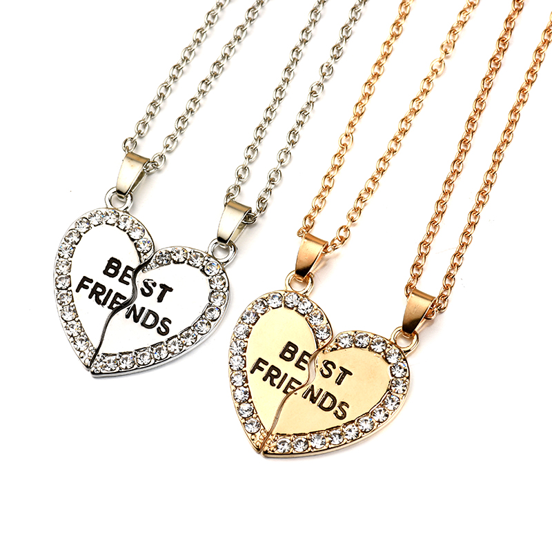 Best friends forever pendant charm necklace aloadofball Choice Image