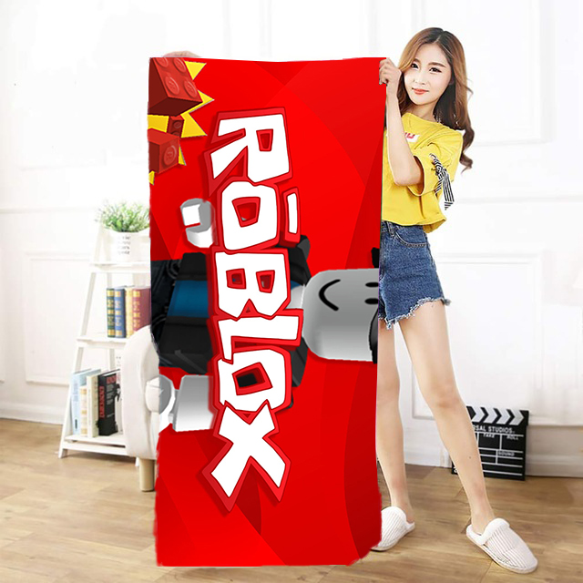 OHCOMICS 30*60cm/50*100cm/70*140cm New Game Roblox Figure Travel Towel Swimming Soft Soothing Cotton Face Bath Towel