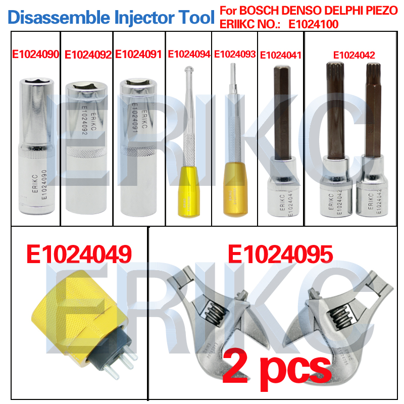 цена на ERIKC Diesel Common Rail Tool Fuel Injector Assembly Disassembly Dismounting 11 pcs Repair Kits for Dleph1 D-ENSO B-OSCH Pize0