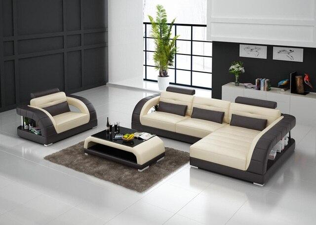 G8012E projeto Da Casa conjunto de sofá, sofá de couro conjunto de luxo de estilo simples