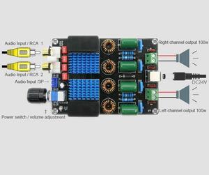 Image 3 - Dc 12v 24 12vハイファイTPA3116トップレベルのデジタル電力オーディオアンプボード100ワット * 2 2チャンネル高電力オーディオアンプボード