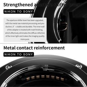 Image 4 - Commlite Lens adaptörü CM ENF E1 PRO otomatik odak lensi montaj adaptörü Nikon Tamron Sigma F dağı Lens için Sony E montaj kamera V06