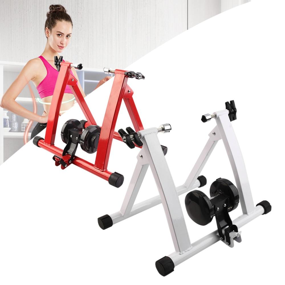 Vélo en acier vélo de montagne Station de formation intérieure route vélo Station de stationnement vélo intérieur exercice formateur Stand chaud de R