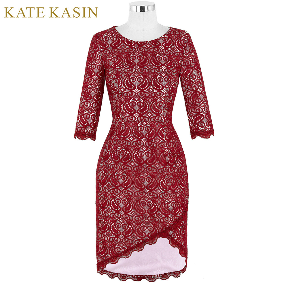 Red Lace Long Sleeve Mother Of The Bride Dresses Formal