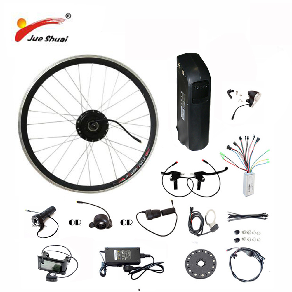 26 700C(28) 48V 10AH 12AH Lithium Battery Electric Bicycle Kit Front Wheel Motor 500W Powerful Electric Bicycle conversion Kit free shipping 48v 15ah battery pack lithium ion motor bike electric 48v scooters with 30a bms 2a charger