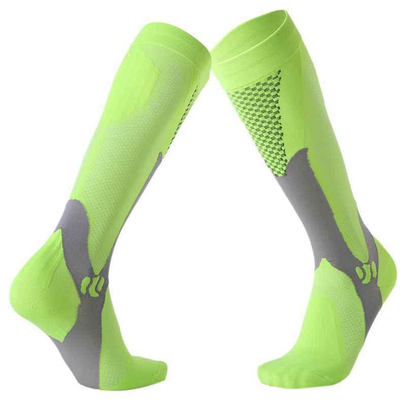 64d81eae867 Men Women Unisex Leg Support Stretch Outdoor Sport Knee High Long  Compression Socks Running Soccer Cycling