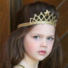 New Baby Girls Princess Queen Crown Hairband Headband Kids Tiara Birthday Gift hot sale Valentine's Day Crystal Tiara Hairband