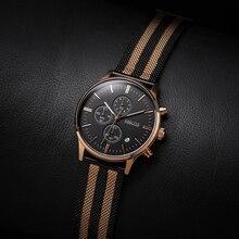BAOGELA Chronograph Mens Watches Top Brand Luxury Quartz Watch Stainless Steel Strap Wristwatch For Man 1611