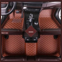 New 3D Leather Car Floor Mats For Land Rover Discovery 3 2004-2009 Custom Auto Foot Pad Automobile Carpet Cover Waterproof Mat